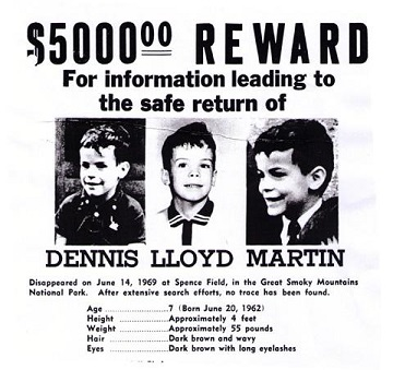 Poster for Missing Boy Dennis Martin