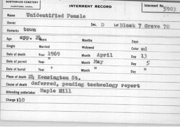 unidentified black female 1969