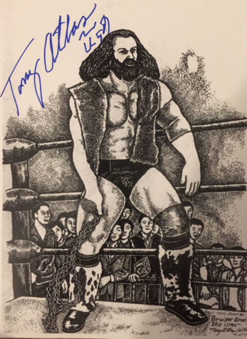 Drawing of Bruiser Brody by fellow wrestler Tony Atlas.