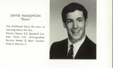 "High School Photo of ""American Werewolf in London"" star David Naughton from Conard High School 1969."